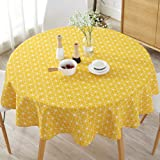 Tonquu 150 cm Table Cloth, Modern Nordic Style Round Floral Printing Dining Table Cloth, Suitable for Home Holiday Party Pati