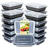 Enther Meal Prep Containers [20 Pack] Single 1 Compartment with Lids, Food Storage Bento Box | BPA Free | Stackable | Reusabl
