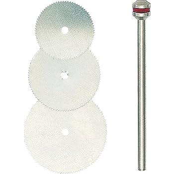 プロクソン(PROXXON) 小径丸のこ刃3種セット シャフト付 【刃物径16・19・22mm 厚み0.1mm 軸径2.35mm】 No.28830