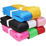 HipGirl 1 1/4 Inch Polypro Webbing 8 x 5 Yards 1 1/4 Inch Combo For Craft DIY Key Chain Fob Yoga Strap Tote Bag Handle Backpa