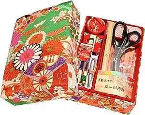 ご結婚御祝や手芸を始めようという方へ 京都発 老舗のお裁縫揃い 14点セット 京都 洛 緑