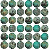 Natural Stone Beads 100pcs 8mm African Turquoise Round Genuine Real Stone Beading Loose Gemstone Hole Size 1mm DIY Charm Smoo