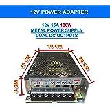 240V AC to DC 12V 15A 180W Switch Power Supply Driver,Power Transformer for CCTV Camera/Security System/LED Strip Light/Radio