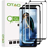 Galaxy S8 Screen Protector Tempered Glass (2 Pack), OTAO 3D Curved Dot Matrix Glass Screen Protector for Samsung Galaxy S 8 w