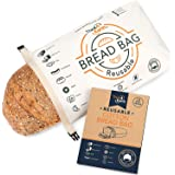 Organic Cotton Bread Bag - Reusable, Premium Bread Bag - Bakery Supplies and Food Storage Solutions - 100% Recyclable and Sus