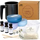Nature's Blossom Candle Making Kit - Make 3 Scented Soy Candles. A Complete Beginner's Set With 1.5 lb. Soy Wax Melting Pitch