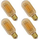 Old Fashioned Edison T45 E27 4W LED Filament Light Bulb Lamp Vintage LED Light Bulbs with Retro Coated Glass Lamp Shade Repla