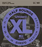 D'Addario ダダリオ エレキギター弦 403ステンレススチール・ハーフラウンド Medium .011-.049 EHR370 【国内正規品】