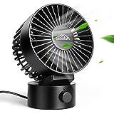 USB扇風機 SIMBR 卓上 ファン=扇風機 静音 USBケーブル1.8m 風量2段階調節 デスクファン CE、ROHSおよびPCC認証済