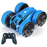 Amphibious Remote Control Car for Kids, Perkisboby 2.4GHz Waterproof Off Road Truck Toys, 4WD Electric Double Sides RC Stunt