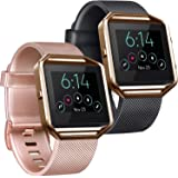Tobfit Sport Silicone Bands Compatible for Fitbit Blaze Bands, 2 Pack, Small/Large