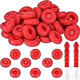 Caulk Cap Caulk Saving Cap Caulk Sealer Saver Open Caulking Tube for Sealing and Preserving, Red (50 Pieces)