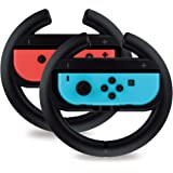 Steering Wheel Controller for Nintendo Switch (2 Pack) by TalkWorks | Racing Games Accessories Joy Con Controller Grip for Ma