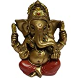 PARIJAT HANDICRAFT The Blessing A Colored Statue of Lord Ganesha Ganpati Elephant Hindu God Idol Made from Polyresin (Golden