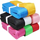 "(8x1yd 1.25"" (30mm) Combo) - HipGirl Polypropylene Polypro Webbing for DIY Key Chain Fob, Yoga Strap, Tote, Backpack, Chair ("