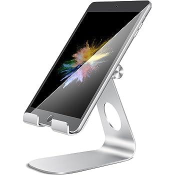 タブレット スタンド ホルダー 角度調整可能, Lomicall iPad用 stand : 卓上充電スタンド, タブレット置き台, デスク台, タブレット対応(4~13''), アイフォン, アイパッド ミニ エア プロ, iPad, iPad mini, iPad Air, iPad Pro 9.7 10.5 12.9, Samsung S7 S8 Note 6, Kindle, Samsung Tab, Sony, Huawei MediaPadに対応