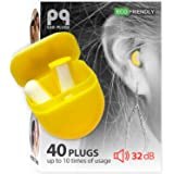 PQ Small Ear Plugs for Sleeping - Sound Blocking for Small Ear Canals, Noise Cancelling 32 dB, Soft Earplugs, 20 Pairs