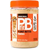 PBfit All-Natural Peanut Butter Powder 15 Ounce, Peanut Butter Powder from Real Roasted Pressed Peanuts, Low in Fat High in P