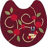 センコー 魔女の宅急便 ローズブーケ トイレマット ワインレッド 約63×63cm 11650