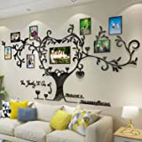 DecorSmart Love Family Tree Picture Frame Collage Removable 3D DIY Acrylic Wall Decor Stickers with Inspirational Quote for L