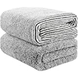 """55"""" x 29"""" Oversized Bath Towels Bamboo, Microfiber Shower Towel for Body, Towel Sets for Bathroom Clearance, Super Absorbent"""
