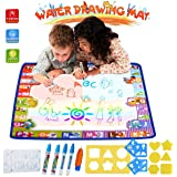 HUALEDI [Large size] aqua doodle mats,Aqua Magic Mat, Water drawing doodle mat toddler,doodle mats in 6 Colors [More tool] 4