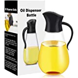 Oil Dispenser Bottle,Cooking Container Bottle 20.5 oz Glass Olive Oil Dispenser Non-Drip Kitchen Vinegar Barbecue Marinade Di