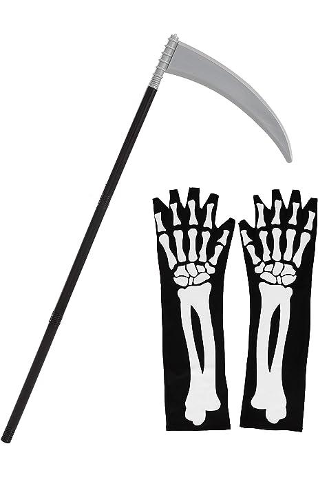 Olen 36.4 Halloween Sickle Weapon Props Halloween Costumes for Kids Costumes Silver