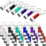 30 Pieces Mini Led Flashlight Keychain Portable 5 Bulb LED Flashlight for Camping Party Favors