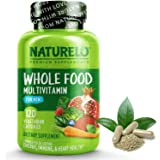 NATURELO Whole Food Multivitamin for Men - with Natural Vitamins, Minerals, Organic Extracts - Vegetarian - Best for Energy,