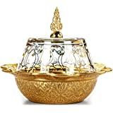 Turkish Ottoman Style Sugar Bowl with Lid, Chocolate, Turkish Delight, Date Fruit or Candy Dish, Perfect Housewarming Birthda