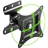 イーサプライ テレビ壁掛け金具 13-27インチ 上下左右可動 角度調整 360度 回転 VESA規格 汎用 DIY 自…
