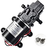 bayite 12V Diaphragm Water Pump, 1.5 GPM (5.6 L/Min) 100 PSI, 12 Volt DC Fresh Water Pump with 2 Hose Clamps, Self Priming Sp