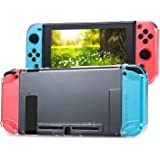 Tasikar Nintendo Switch用カバー 分離したの透明なケース 超薄型 任天堂スイッチケース 対応ドックとJoy-Con コントローラー(透明)