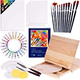 Acrylic Paint Set, 50 Piece Professional Painting Supplies Set, Includes Wood Table Easel, Painting Brushes, Acrylic Paints,