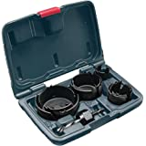 Bosch Professional 8-Piece Edge Hole Saw Set (For Wood, 1/4 inch Hexagonal Shank, Ø 25-64 mm, Drill Accessories, In Case)