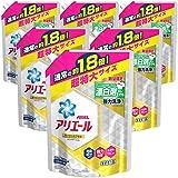 【ケース販売】アリエール 抗菌 消臭成分アップ 洗濯洗剤 詰め替え 超特大 1.18kg×6袋