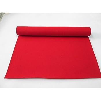 毛氈(もうせん)  赤(批毛氈) 2mm 巾90㎝ x 長さ 180㎝  混紡毛氈