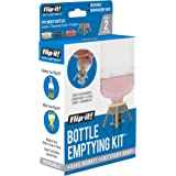 Flip-it! Bottle Emptying Kit - Flip Bottle Upside Down to Get Every Drop Out of Lotions, Shampoos, Conditioners and Kitchen C