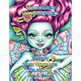 Color'n'Chics Coloring Book 2 Fantasy Fairy Portraits Grayscale: Coloring Book for All Ages, featuring Beautiful Cute Big Eye