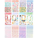 Cute Essential Kawaii Aesthetic Stationery Sticker Pack - 12 Sheets (690+ stickers) - for planners, journals, scrapbooks, gif