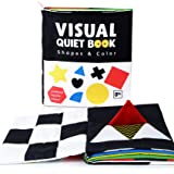 beiens Soft Baby Books, High Contrast Black and White Books NonToxic Fabric Touch and Feel Crinkle Cloth Books Early Educatio