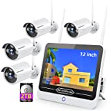 [All-in-One&8CH Expandable&Full HD] Wireless Security Camera System,SMONET 8CH 1080P Video Security System(2TB HDD Included)