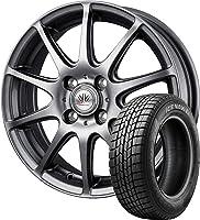 14インチ 1本セット (2018年製)スタッドレスタイヤ・ホイール GOODYEAR(グッドイヤー) アイスナビ 6 155/65R14 75Q + ロクサーニスポーツ RS-10 【軽自動車用】