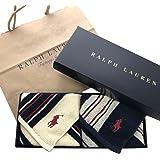 Ralph Lauren ラルフローレン ハンドタオル タオルハンカチ ギフトBOX付きハンドタオル2枚セット (ランダ…