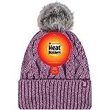 Heat Holders Warm Winter Thermal Solna Pom Pom Beanie Hat (Rose)