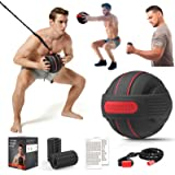 TITISKIN All-in ONE Home Gym Workout Equipment with Weighted Fitness Ball, Resistance Band Handles,Modular Dumbell,Foam Rolle