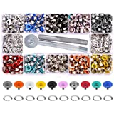 Yakamoz 300 Set 6mm 1/4 Inch Multi-Color Grommets Kit Metal Eyelets Set with Installation Tool for DIY Project Craft Clothes