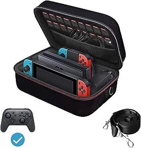 Nintendo Switch ケース iVoler ニンテンドースイッチ 超大容量 収納 バッグ 全面保護 便利 まるごとバック ブラック 本体と全ての周辺機器を一括収納出来る
