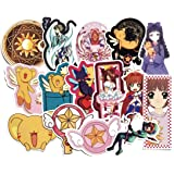 Card Captor Sakura Stickers 15pcs Cool Anime Decals for Laptops Water Bottles Toys and Gifts Cars Stickers Cartoon Anime Aest